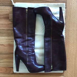 Loeffler Randall plum boots